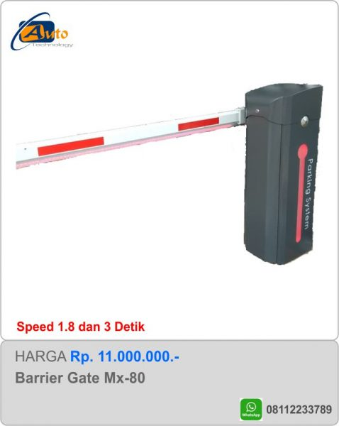 Jual Palang Parkir MX-80 Led | Barrier Gate Murah